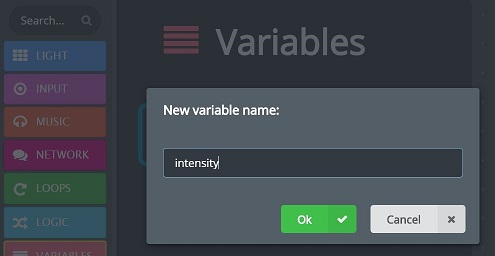 Name a new variable dialog