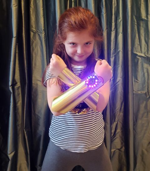 Completed Wonder Woman Gauntlets project