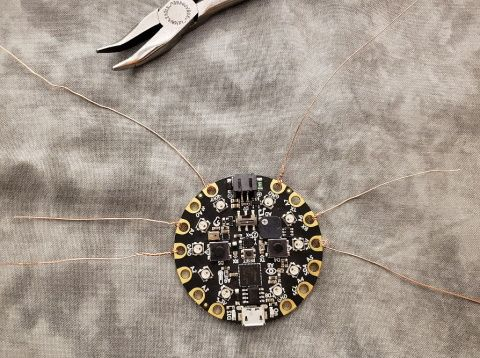Wires added to pins A1 and A6