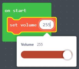 Maximum setting on volume slider