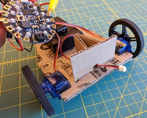 Attach stand to front of robot