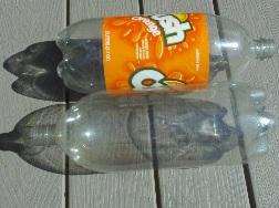 two liter bottles