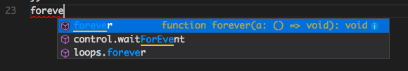 Autocomplete for typed code