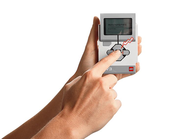 Hand pressing power button