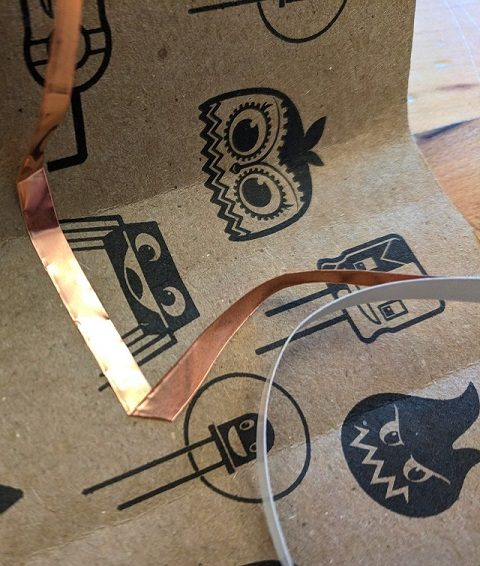 Stick copper tape onto the base of the Music Maker