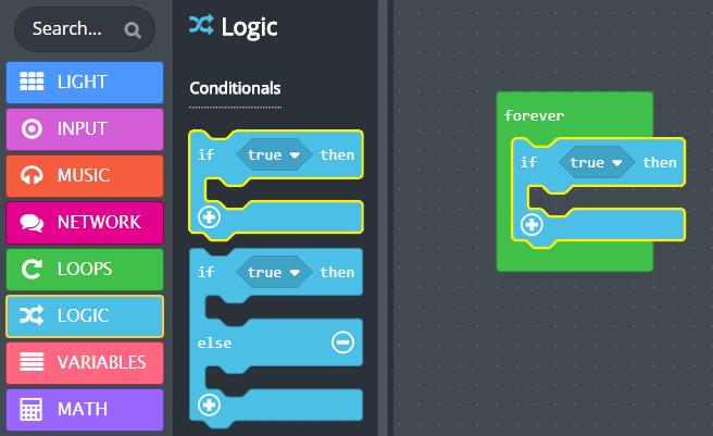 'if then' logic block